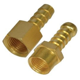 "Brass hose barb female, 3/8"" x 12 mm"