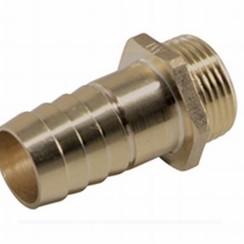 """Messing nickel-plated slangpilaar male, 1/4"""" x 8 mm"""