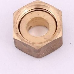 "Solder coupling 12mm x 1/2"" female nut brass"