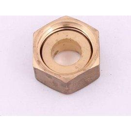 "Solder coupling 12mm x 1/2"" female nut brass"