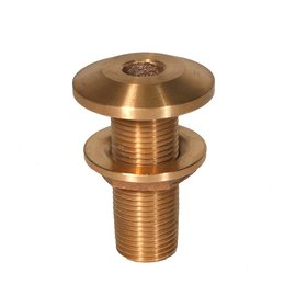 "Thru hull with nut 3/4"" bronze"