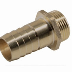 "Brass hose barb male, 1 1/2"" x 51 mm"