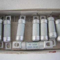 Zekering HBC Brush 10A 059-0120. 12x53mm