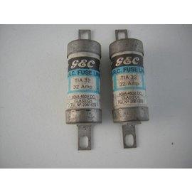 G&C Zekering HBC G&C 32A  059-0119. 12x53mm
