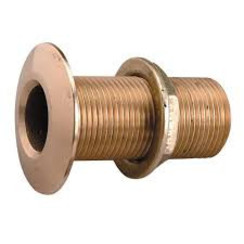 "Thru hull brass with nut 1/2""  L= 60 mm"