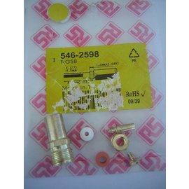 RS Conector macho coaxial RG58