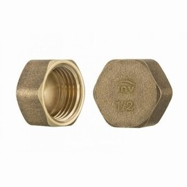 Cap stop HEX female 1/4""