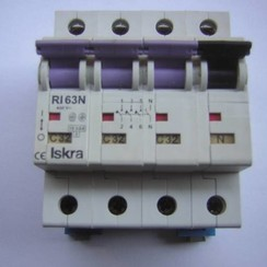 Iskra Circuit breaker 4 pole 400V-63N