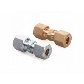 Coupling GAS straight 6mm x 6mm brass