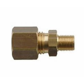 "Koppeling GAS recht 8 mm x 1/4"" messing, male."