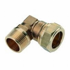 """Knie messing knel male 10 mm x 3/8"""""""