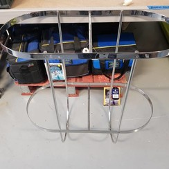 Stootwilhouder dubbel Inox 2 x 350 mm  H=700 mm
