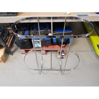 Plastimo Fender holder double hinged Inox 2 x 350mm  H=700mm.
