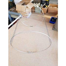 Plastimo Stoorwilhouder enkel Inox 300 x 580mm