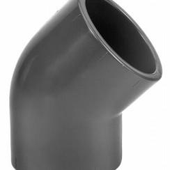 Codo de 45°   PVC- PN16 40 mm hembra x 40 mm hembra