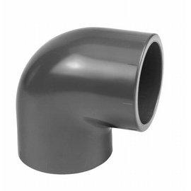 Codo de 90°  PVC- PN16 50 mm hembra x 50 mm hembra