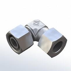 Inox Codo 90° conector ajustable de compresi—n 6mm x 6mm