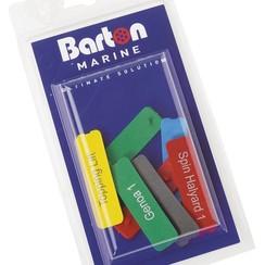 Barton Cruiser naamplaatjes 7 stuks 81540