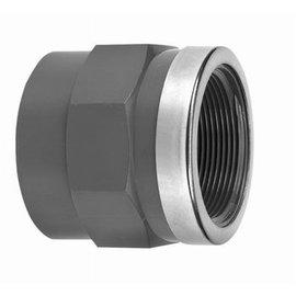 "Manguito reforzado PVC- PN16 50 mm hembra x 1 1/2"" macho"