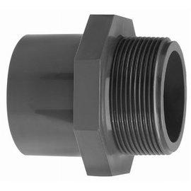 """Manguito PVCU - PN16 40 mm macho x 1 1/2""""  macho"""