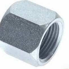 Steel end cap HEX  1/4""