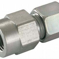 "Steel reducing compression-female  10mm x 1/4""  L10"