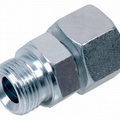 "Steel stud coupling compression-male  10mm x 1/4""  L10"