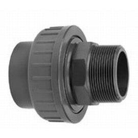 """Racor unión PVC- PN16 25mm hembra x 1 """" macho"""
