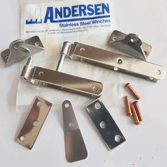 Andersen Inox gudgeon set