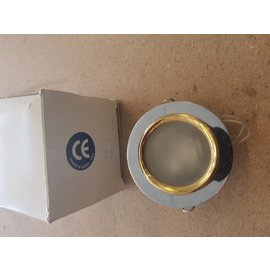 Chrome frosted fixed halogen ceiling spotlight 80mm