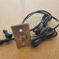 Unidad de luz LED con cables enlazados 12VDC - 3W. 40 x 70mm.
