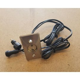 Led light unit with linked cables 12VDC - 3W. 40 x 70mm.