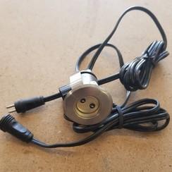 Led unit met kabels 12VDC - 3W. 40mm