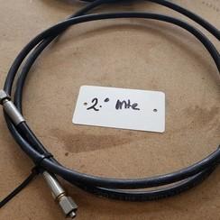 ZEC Hydraulische slang met nippels WP 210 bar. L=2000mm.