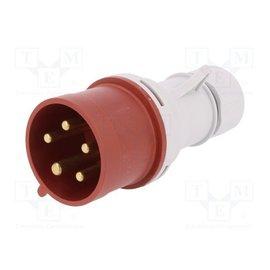 LeGrand Plug male 400V - 32A - 4P+T IP-44 - P17 Tempra