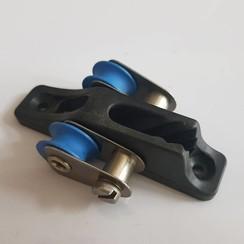 Cleat inox met dubbele poelie 3-6mm