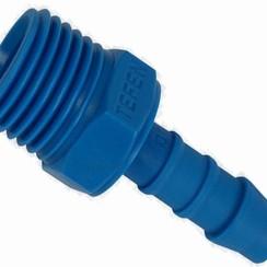 """PVC slangpilaar male, 1/2"""" x 10 mm"""
