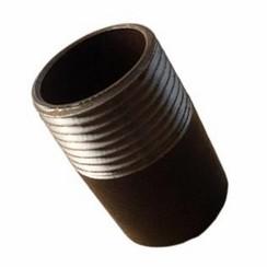 "Pijpnippel recht las zwart 1 1/4"" x 130mm"