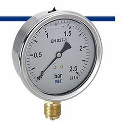 MEI glycerine pressure gauge 0-2,5 bar.