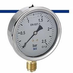 MEI manómetro de glicerina 0-2,5 bar.