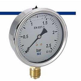 MEI MEI glycerine pressure gauge 0-2,5 bar.