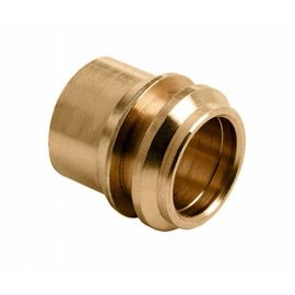 Reducing compression socket 12 mm x 15 mm brass