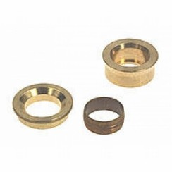 Knel reduceer messing 22 mm x 15 mm