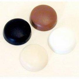 Tapas de plástico marrón