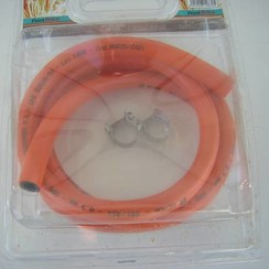 Gas hose 1,5 m with 2 clips