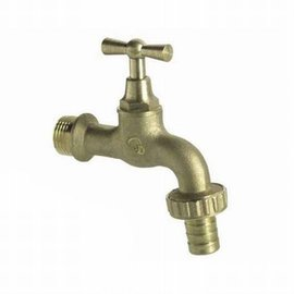 "Brass 1-way 1/2"" water tap"