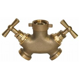 "Brass 2-way 3/4"" water tap"