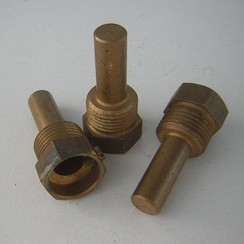 """Thermostaat adapter messing 1/2"""" x 30 x 10mm"""