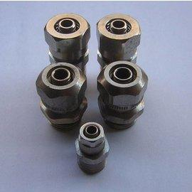 """Acoplamientos de compresión de manguera 14mm x 1/2"""" y 7mm x 3/8"""