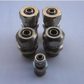 "Hose compression couplings 14mm x1/2"" and 7mm x3/8"""